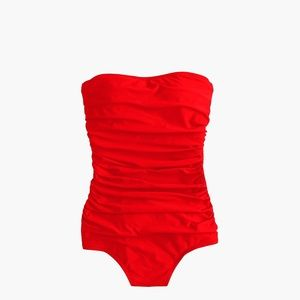 J.Crew Ruched Bandeau One Piece Swimsuit